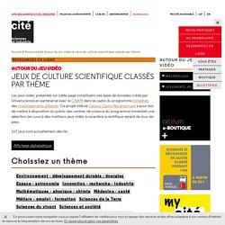 Jeux de culture scientifique classés par thème - Jeux de culture scientifique