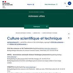 Culture scientifique et technique