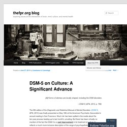 DSM-5 on Culture: A Significant Advance