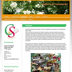 Culture et Solidarite - Actions