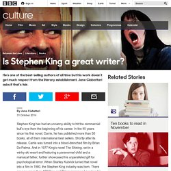 Culture - Is Stephen King a great writer?