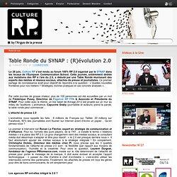 Table Ronde du SYNAP : (R)évolution 2.0