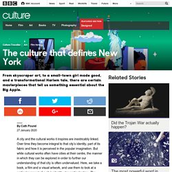 Culture - The culture that defines New York