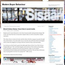 Brand Culture theory: Coca Cola in social media