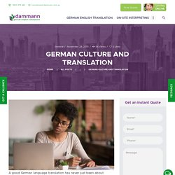 KNOW ABOUT GERMAN CULTURE AND TRANSLATION