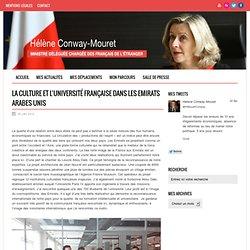 La culture et l'université française dans les Emirats arabes unis ‹ Hélène CONWAY