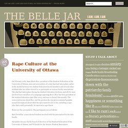 Rape Culture at the University of Ottawa