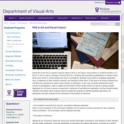 PhD in Art and Visual Culture - PhD in Art and Visual Culture - Western University