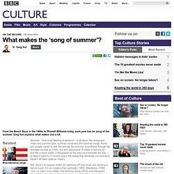 Culture - What makes the 'song of summer'?