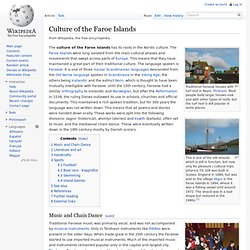 Culture of the Faroe Islands