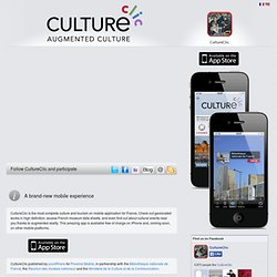CultureClic - La culture augmentée sur mobile