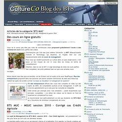 Le Blog de CultureCo, articles de la catégorie BTS MUC