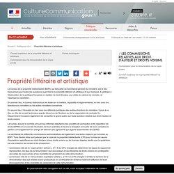 Ministère de la culture et de la communication : Propriété littéraire et artistique