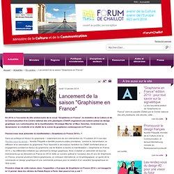 """Lancement de la saison """"Graphisme en France"""" / A la une / Actualités"""