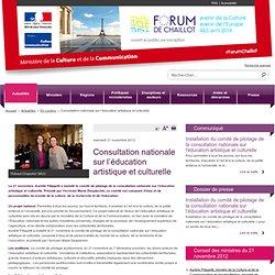 Consultation nationale sur l'éducation artistique et culturelle / A la une / Actualités