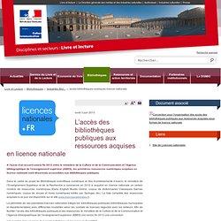 accès bibliothèques publiques licence nationale / Actualités Bibliothèques / Bibliothèques / Livre et lecture