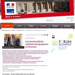 Les jeunes talents culturels bourguignons à l'honneur / Actualité à la une / Actualités / DRAC Bourgogne / Régions