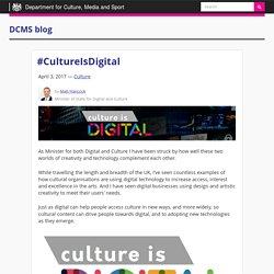 #CultureIsDigital - DCMS blog