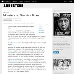 Adbusters vs. NewYorkTimes