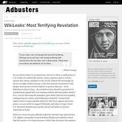 WikiLeaks' Most Terrifying Revelation