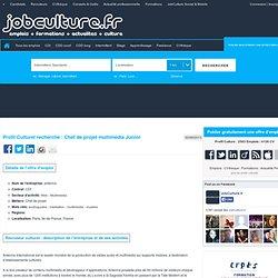antenna recrute Chef de projet multimédia Junior