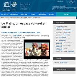 Le Majlis, un espace culturel et social - patrimoine immatériel - Secteur de la culture - UNESCO