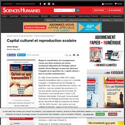 Capital culturel et reproduction scolaire