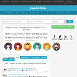 JobCulture: Emploi, Stages, Recrutement - Culture, presse, édition, médias, associations