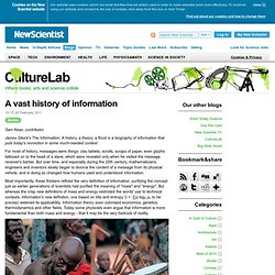 CultureLab: A vast history of information