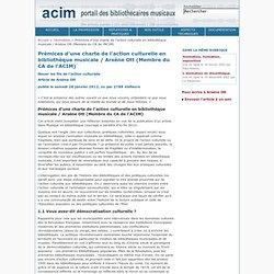Charte d'une bibliothèque musicale ACIM