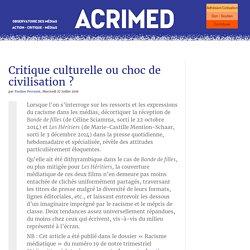 Critique culturelle ou choc de civilisation