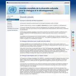 Diversité culturelle - Journée mondiale de la diversité culturelle pour le dialogue et le développement, 21 mai