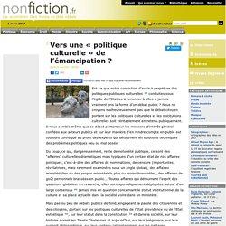 Vers une « politique culturelle » de l'émancipation