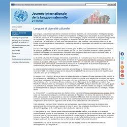 Langues et diversité culturelle ONU