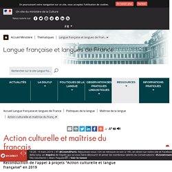Action culturelle et maîtrise du français