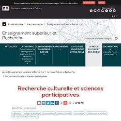 Recherche culturelle et sciences participatives