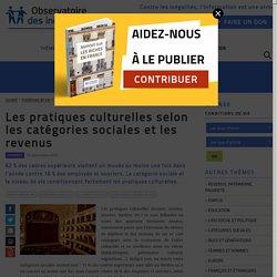 Les pratiques culturelles selon les catégories sociales et les revenus