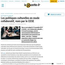 Les politiques culturelles en mode collaboratif, vues par le CESE