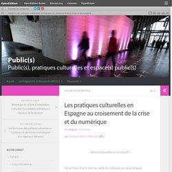Les pratiques culturelles en Espagne au croisement de la crise et du numérique – Publics