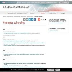 Pratiques culturelles - Études et statistiques