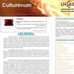 Les MOOCs (Culturenum - U. Caen - Notes de synthèses par les étudiant-e-s)