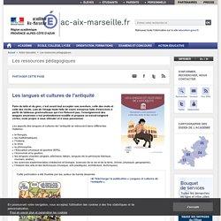 Les langues et cultures de l'antiquité - ac-aix-marseille.fr