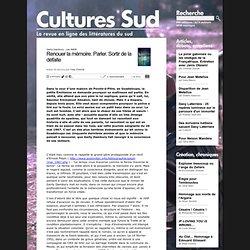 Cultures Sud : littératures du Sud