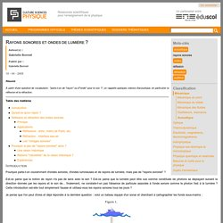 CultureSciences-Physique - Ressources scientifiques pour l'enseignement des sciences physiques