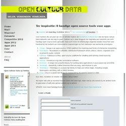 Open Cultuur Data » Ter inspiratie: 8 handige open source tools voor apps