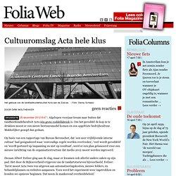 Cultuuromslag Acta hele klus