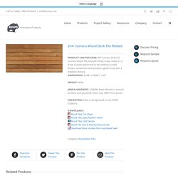 2'x4' Cumaru Wood Deck Tile Ribbed - Bison Innovative Products