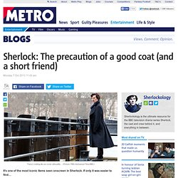 BBC's Sherlock: Benedict Cumberbatch and the precaution of a good coat (and a short friend)