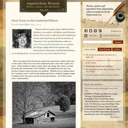 Ghost Towns on the Cumberland Plateau - Appalachian History