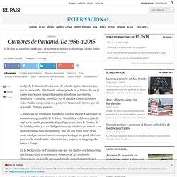 Cumbres de Panamá: De 1956 a 2015